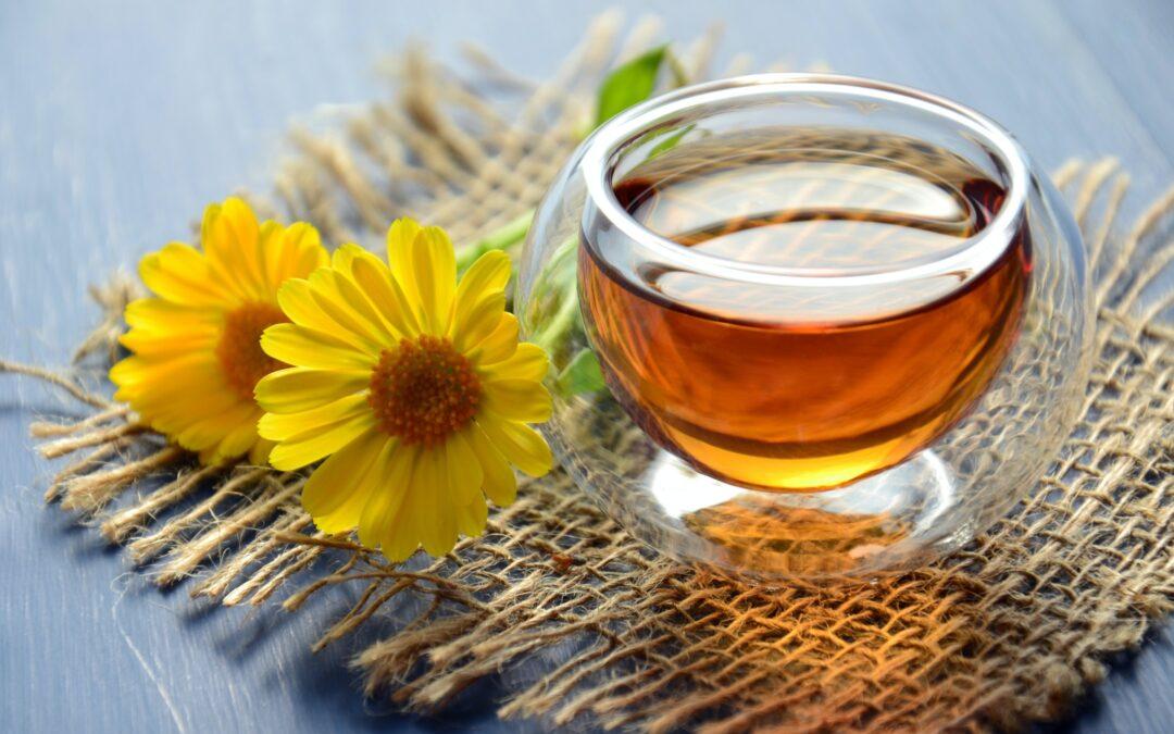 Τσάι, λουλούδια, όχι ζάχαρη